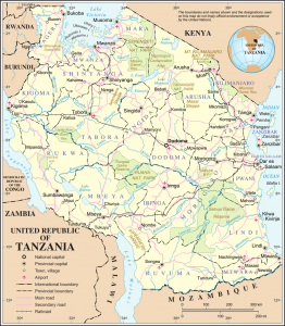 Map of Tanzania (public domain)