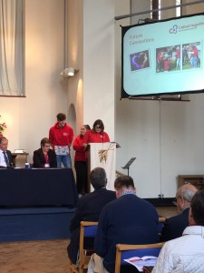 Rochester Youth Council presenting to Diocesan Synod